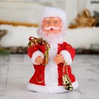 Дед Мороз, в красной шубе, с колокольчиком, русская мелодия