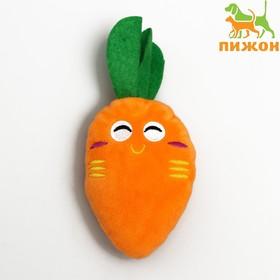 Игрушка для собак «Морковка» со спрятанной пищалкой, 15-18 см