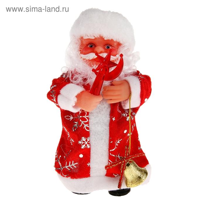 Дед Мороз, со звездой, с подсветкой, английская мелодия