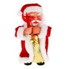 Дед Мороз, длинная шуба со звездой, музыкальный