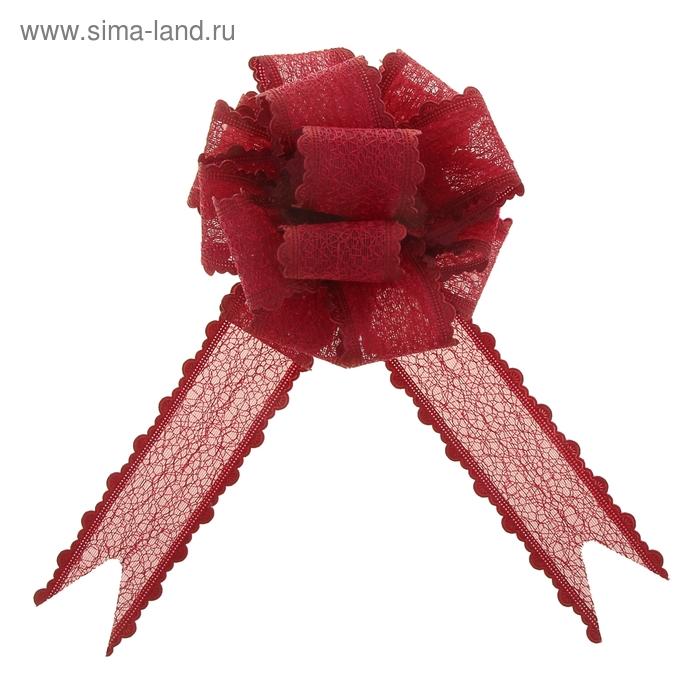 "Бант-шар №3,8 ""Паутинка"", цвет бордовый"