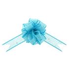 """Бант-шар №3,8 """"Блестящая сетка"""", цвет голубой"""