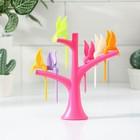 Набор для канапе «Птицы», на подставке, 6 шпажек, цвет МИКС - фото 646592