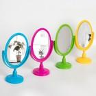 Зеркало на ножке, двустороннее, с увеличением, зеркальная поверхность 10 × 15 см, МИКС