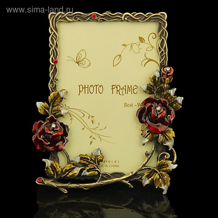 """Фоторамка """"Переплетение с розами"""" для фото 10х15 см"""