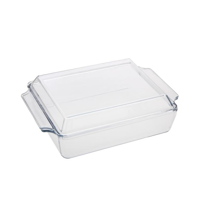 Кастрюля стеклянная 1,5 л жаропрочная с крышкой