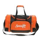 Сумка-трансформер дорожная, 1 отдел, 2 наружных кармана, длинный ремень, цвет черно-оранжевый
