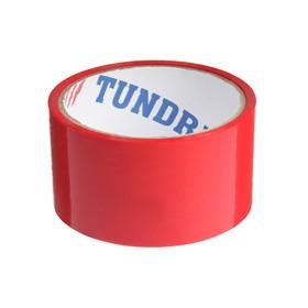 Лента клейкая TUNDRA, красная, 45 мкм, 48 мм х 24 м