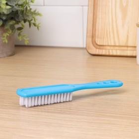 Щётка для одежды с ручкой Доляна, 17×4×3 см, цвет МИКС - фото 4646221