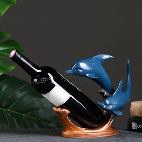 """Подставка под бутылку """"Дельфины"""" синяя"""