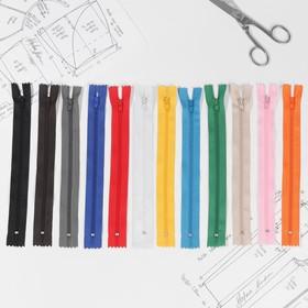 Набор молний «Спираль», №3, неразъёмные, 20 см, 12 шт, цвет МИКС