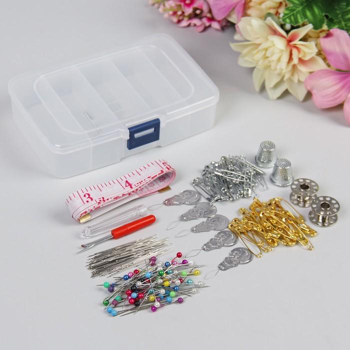 Набор для шитья в пластиковой коробочке