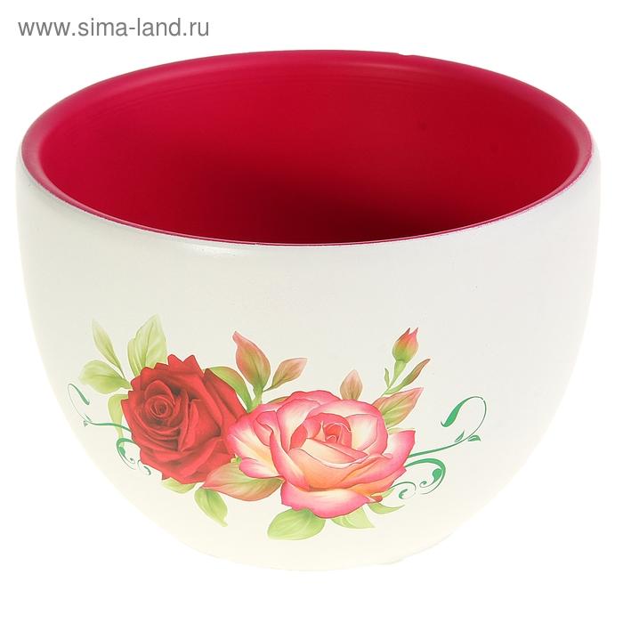 """Кашпо """"Розы в саду"""" малое"""
