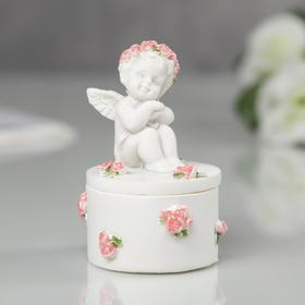 "Шкатулка ""Ангел в венке из роз"""