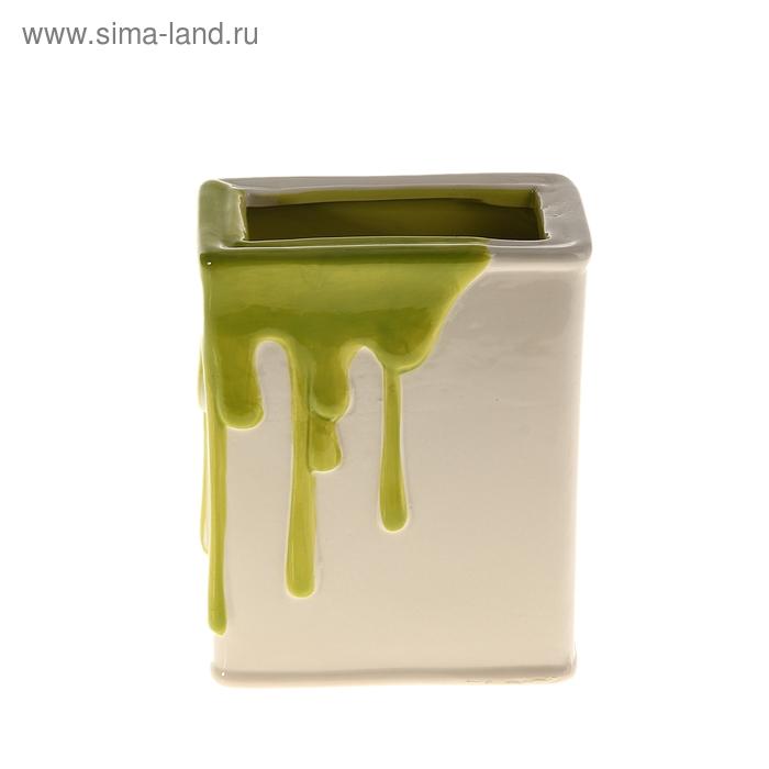 """Кашпо """"Краска"""" зелёное"""