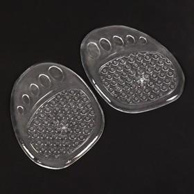 Полустельки для обуви, с протектором, силиконовые, 9 × 7 см, пара, цвет прозрачный