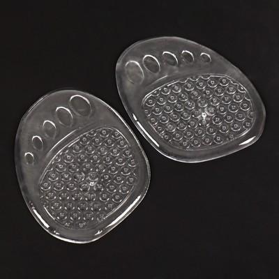 Полустельки для обуви силиконовые, под стопу, с протектором, 2шт