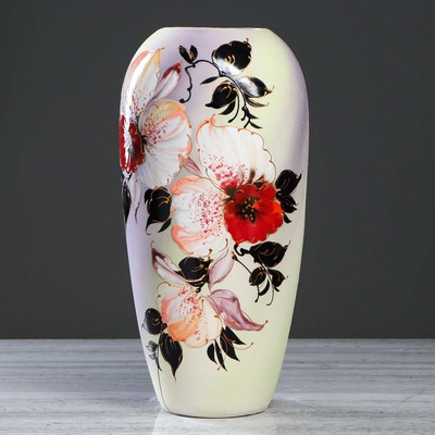 """Ваза напольная """"Аурика"""" 45 см, орхидея"""