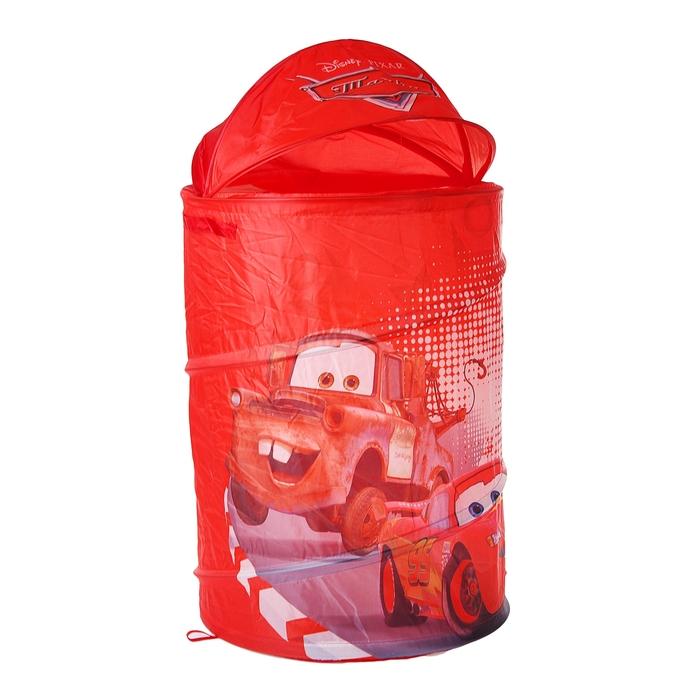 """Корзина для игрушек """"Тачки"""" с крышкой и ручками, цвет красный"""