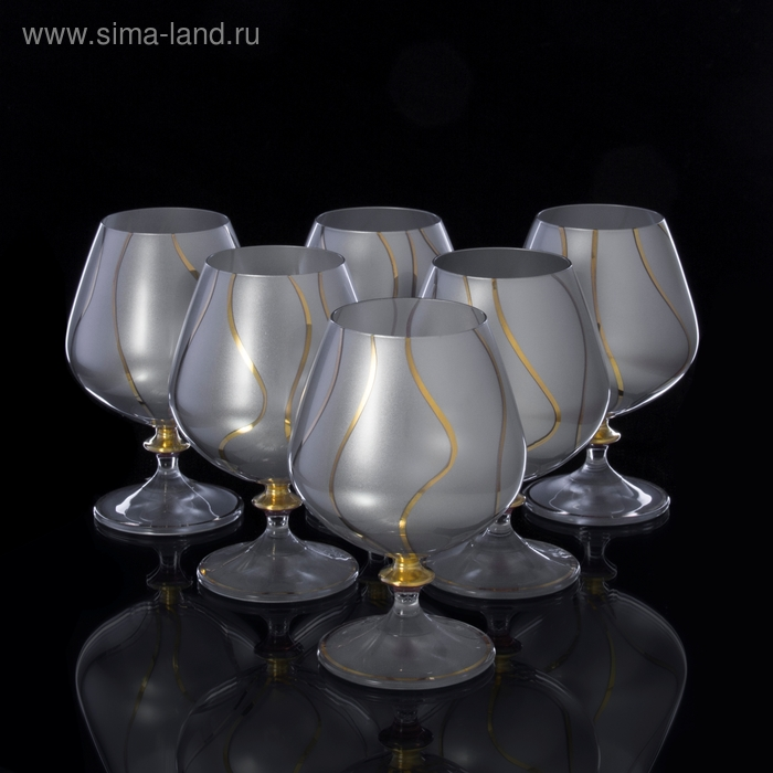 "Бокалы для коньяка ""Silver satin"" 6 шт., 400 мл"