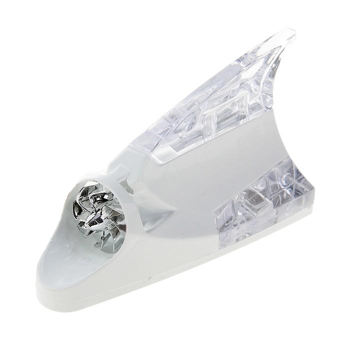 """Плавник светодиодный """"Акула"""", Luazon, LED, работает от ветра, белый"""