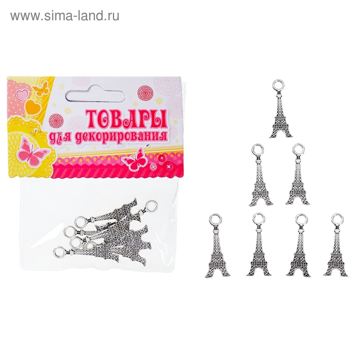 """Набор бусин """"Эйфелева башня"""" 13 гр. размер 1 шт 3*1"""