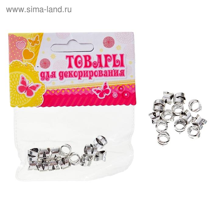 """Набор бусин """"Рубчики"""" 15 гр. размер 1 шт 0,8*0,8"""