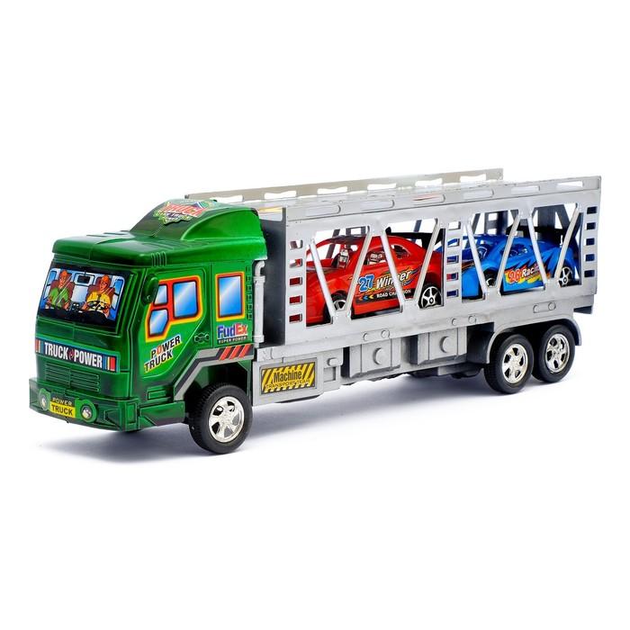 Грузовик инерционный «Автовоз», 2 машинки, цвета МИКС