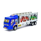 Грузовик инерционный «Автовоз», 2 машинки, цвета МИКС - фото 106533341