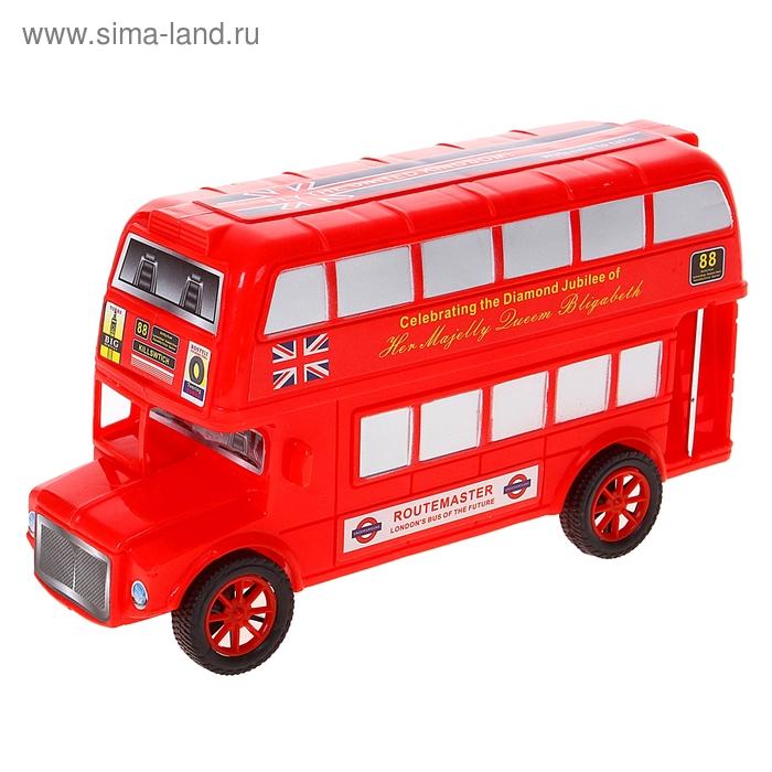 """Автобус инерционный """"Лондонские экскурсии"""", цвета МИКС"""