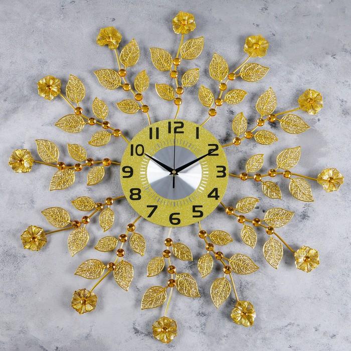 """Часы настенные, серия: Ажур, """"Цветочки"""", d=70 см - фото 877997"""