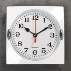 "Wall clock, series: Classic, ""Laura"", chrome, 15x15 cm"