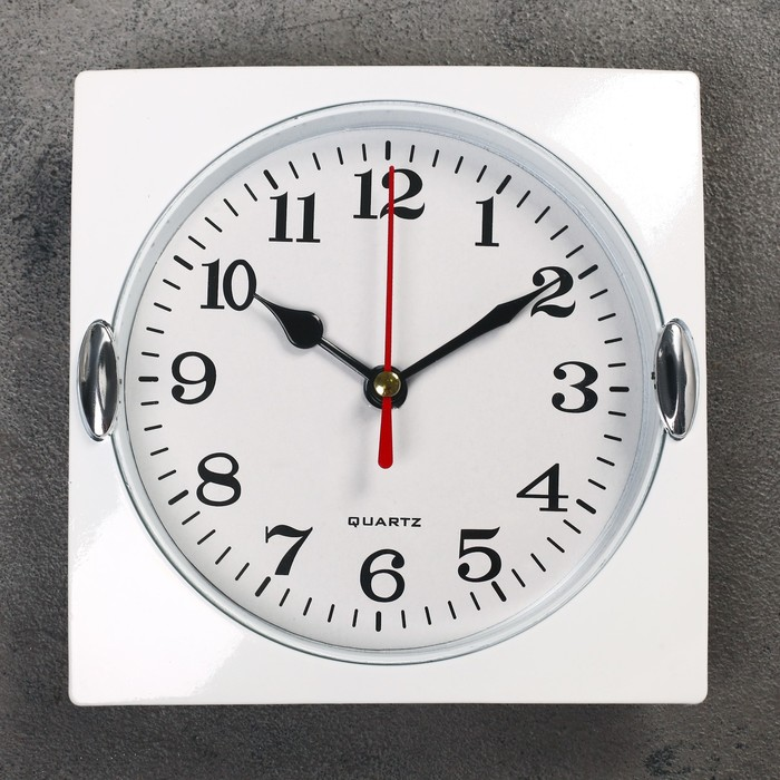 "Часы настенные, серия: Классика, ""Лаура"", хром, 15х15 см"