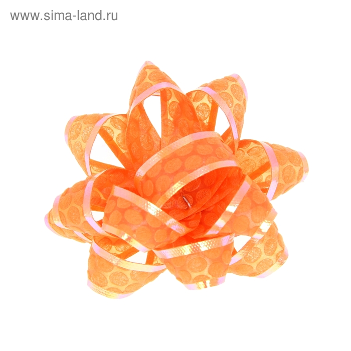 "Бант-звезда №5 ""Соты"", цвет оранжевый"