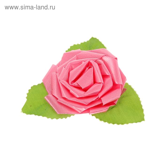 Бант-роза №6 розовый