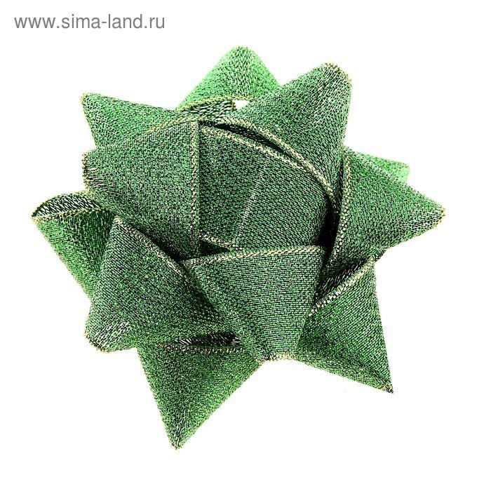 """Бант-звезда №8 """"Блеск"""", цвет зелёный"""