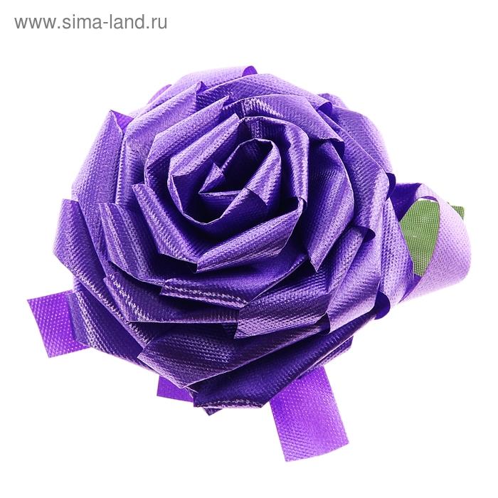 Бант-роза №8,5, цвет фиолетовый