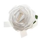 Бант-роза №8,5, цвет белый