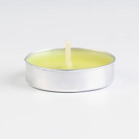 Свечи восковые в гильзе (набор 6 шт.), аромат лимон - фото 1713297