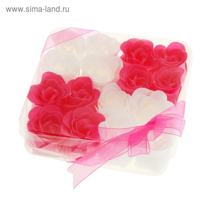 """Мыльные лепестки (набор 16 шт) """"Кураж"""", цвет розово-белый"""
