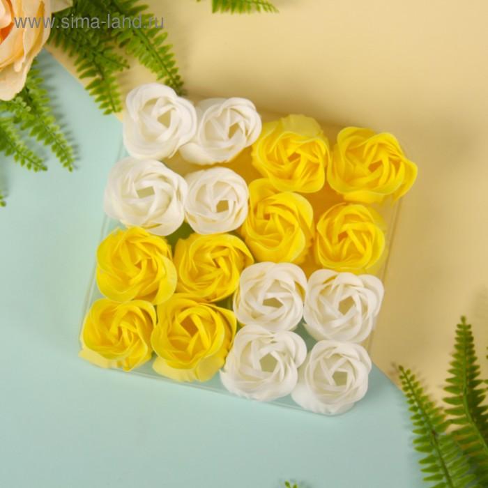 """Мыльные лепестки (набор 16 шт) """"Кураж"""", цвет желто-белый"""