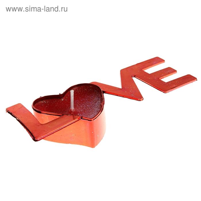 """Свеча восковая """"Признание в любви"""", цвет красный"""
