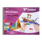 Бумага цветная металлизированная набор A4+ 240x320 мм Sadipal, 10 листов, 7 цветов, склейка