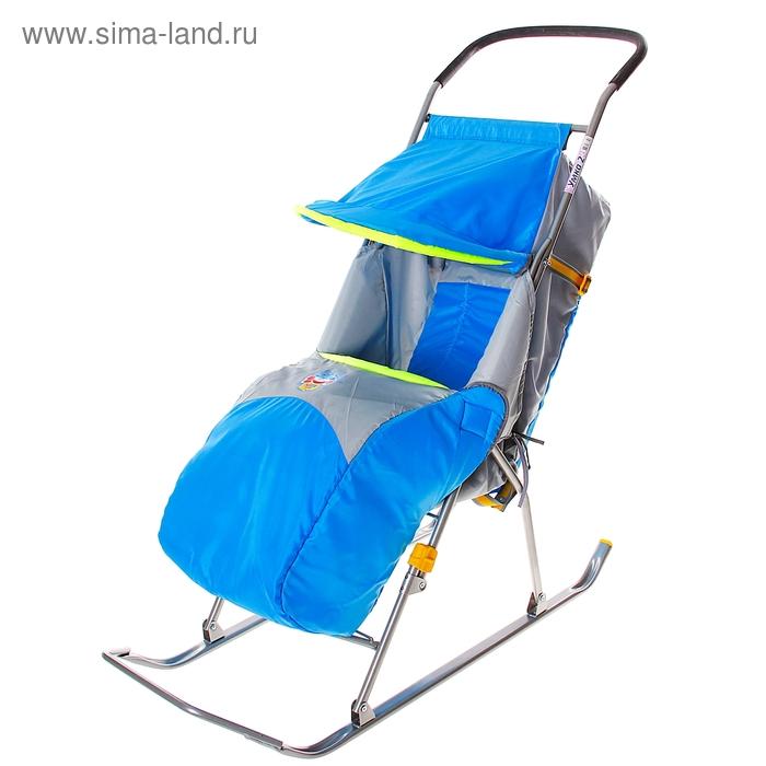 """Санки-коляска """"Умка 2"""", цвет голубой"""