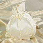 Сумочка невесты с аппликацией из бисера, айвори