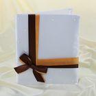 Папка «Свидетельство о заключении брака», ручная работа, с коричневой лентой