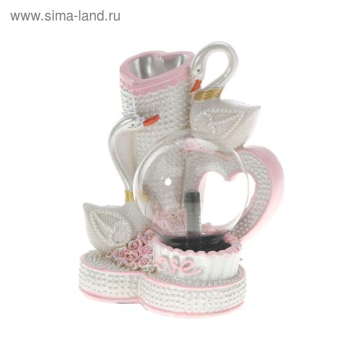 """Плазменный шар """"Лебеди"""", розовый"""