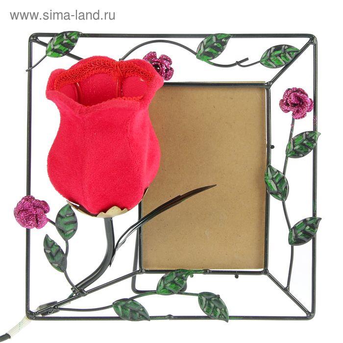 """Фоторамка с декоративным светильником """"Аленький цветочек"""""""