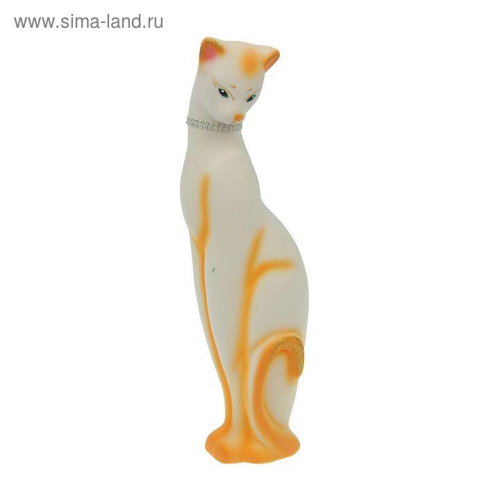 "Копилка ""Кошка Багира"" флок, белая, микс"