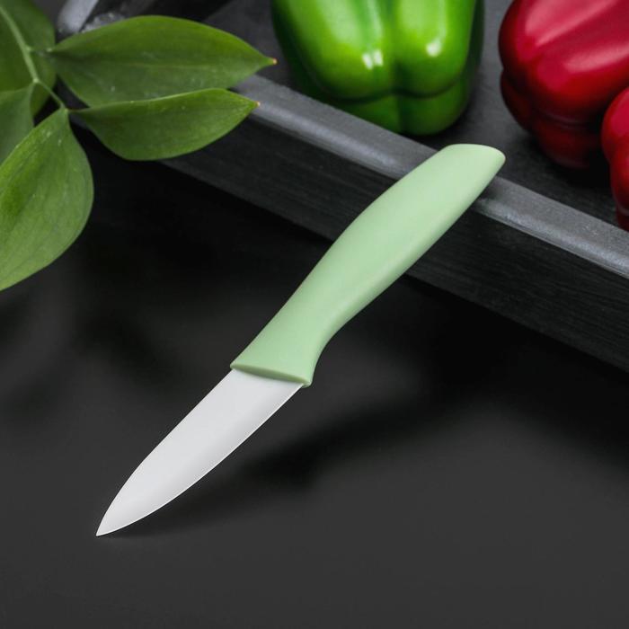 """Нож керамический """"Мастер"""" лезвие 8 см, цвета МИКС"""
